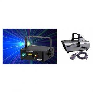 Location Pack laser + machine à fumée